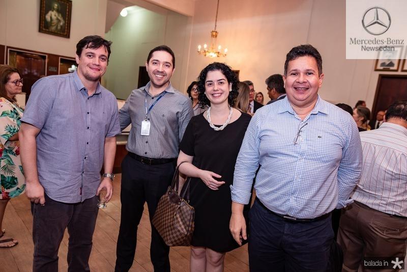 Ciro Rocha, Antonio Moura, Germana Belchior e Marcos Saraiva