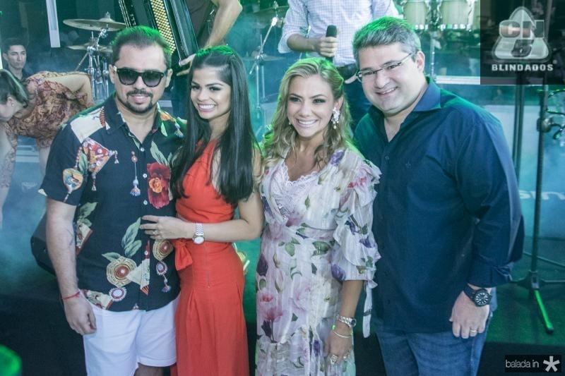 Xand Aviao, Isabele Temoteo, Vanessa Queiros e Mario Queiros