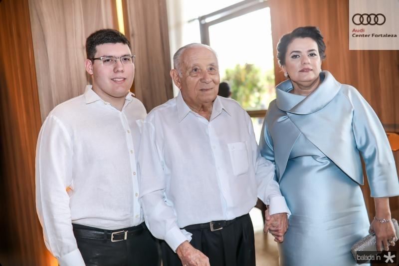 Artur, Adauto e Silvana Bezerra