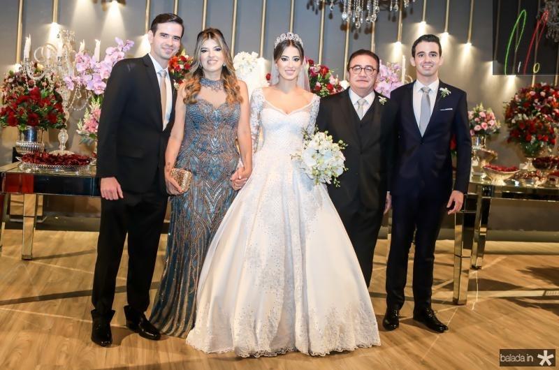 Manoel Filho, Paula Frota, Manoella, Manoel e Rodrigo Linhares