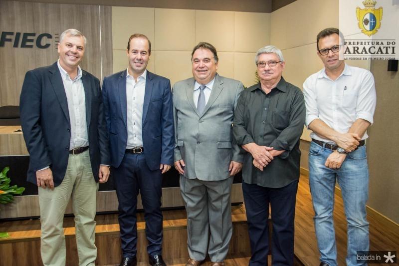 Lucas Ferianci, Cesar Ribeiro, Carlos Alberto Lancia, Roberto Parente e Antonio Vidal