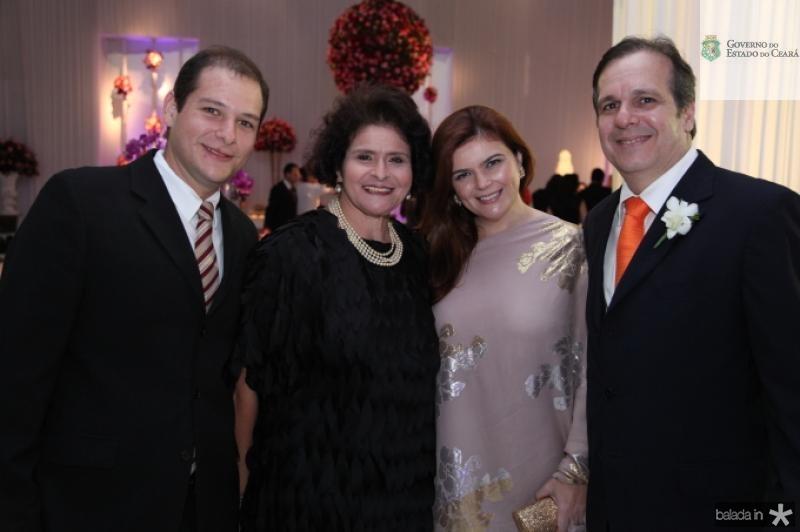 Gabriel e Lilia Freitas, Nana e Mucio Bandeira