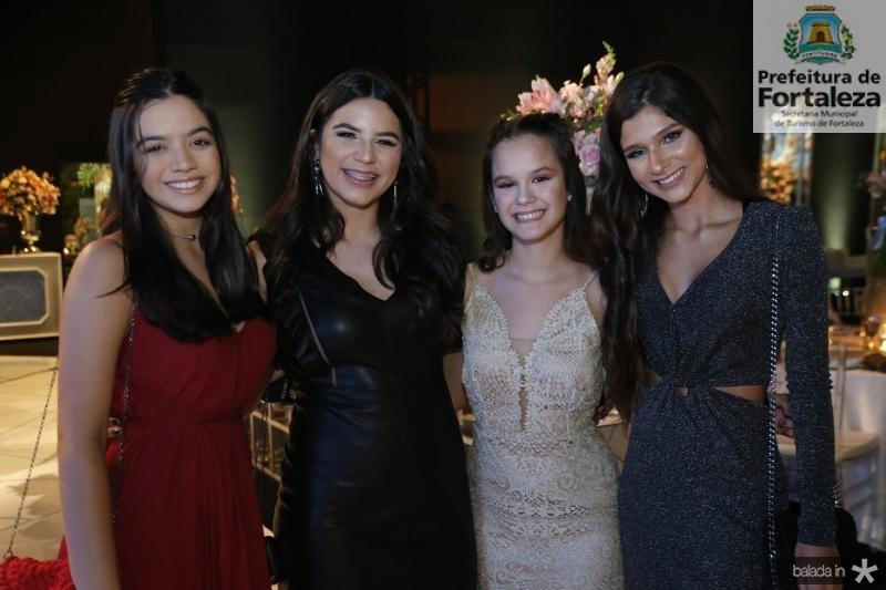 Livia Queiroz, Maria Beatriz, Marcela Gondim e Nicole Picanco