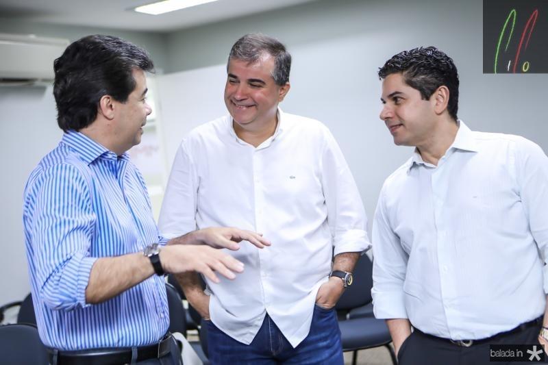 Duda Brigido, Ricardo Bezerra e Pompeu Vascocelos