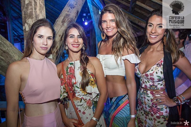 Carolina Borges, Rayssa Carvalho, Lou Montenegro e Rafaela Lucena