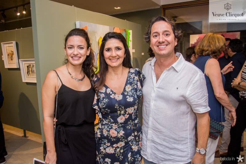 Lina Cidrao, Luciana Cidrao e Rodrigo Parente