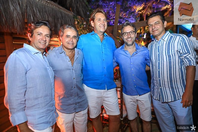 Aderaldo Silva, Ivan Bezerra, Philipe Brooks, Francisco Marinho e Claudio Moreira