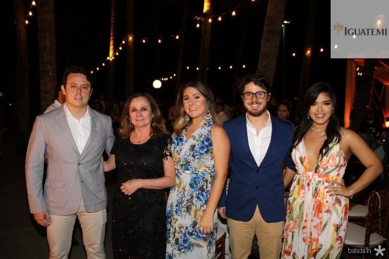 Rafael, Denise, Beatriz, Igor Barros, Barbara Vidal