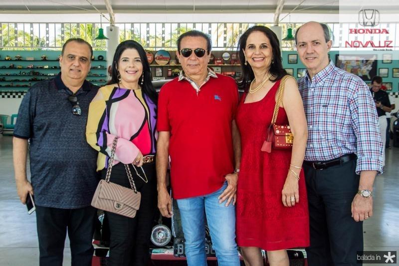 Max Camara, Sellene Camara, Gaudencio Lucena, Glaucia Ferrer e Marcelo Ferrer