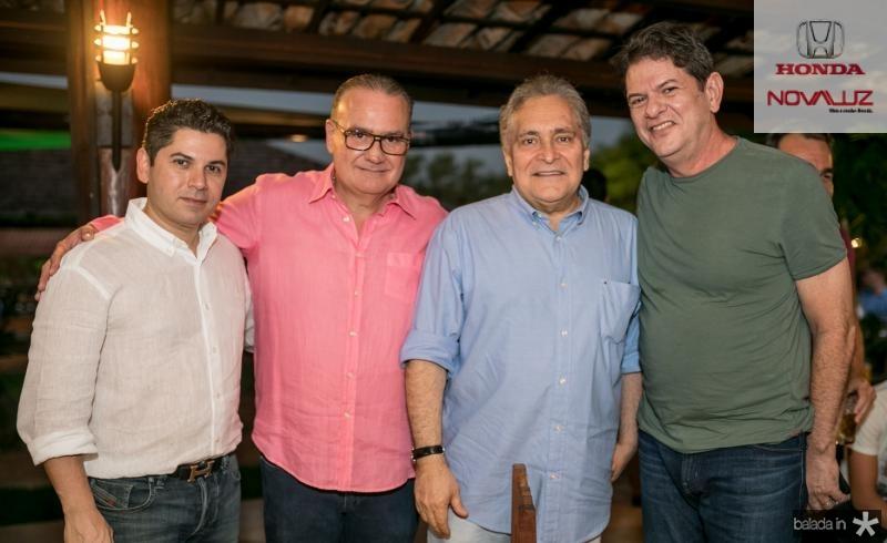 Pompeu Vasconcelos, Chiquinho Feitosa, Luis Pontes e Cid Gomes