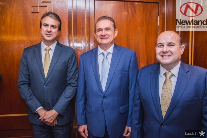 Camilo Santana, Washington Araujo e Roberto Claudio