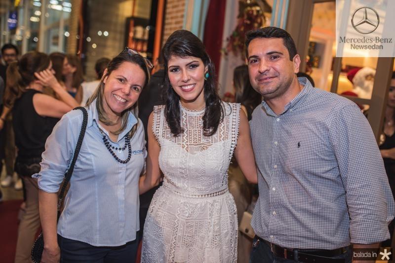 Paula Carvalho, Flavia Laprovitera e Helio Carvalho