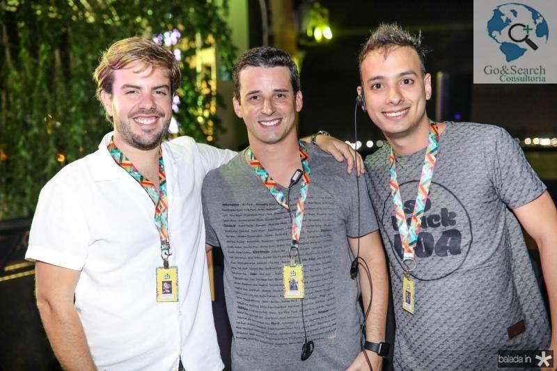 Claudio Nelson, Cleiton Holanda e Lucas Veras