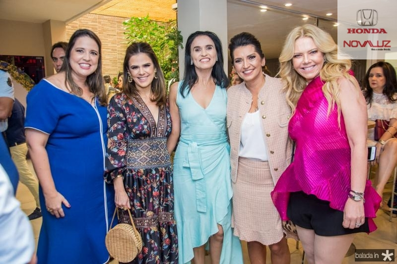 Luciana Colares, Niedja Bezerra, Neuza Rocha, Marcia Travessoni e Branca Mourao