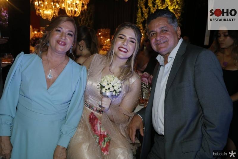 Graca Santiago, Paula Linhares e Wedson Fernandes