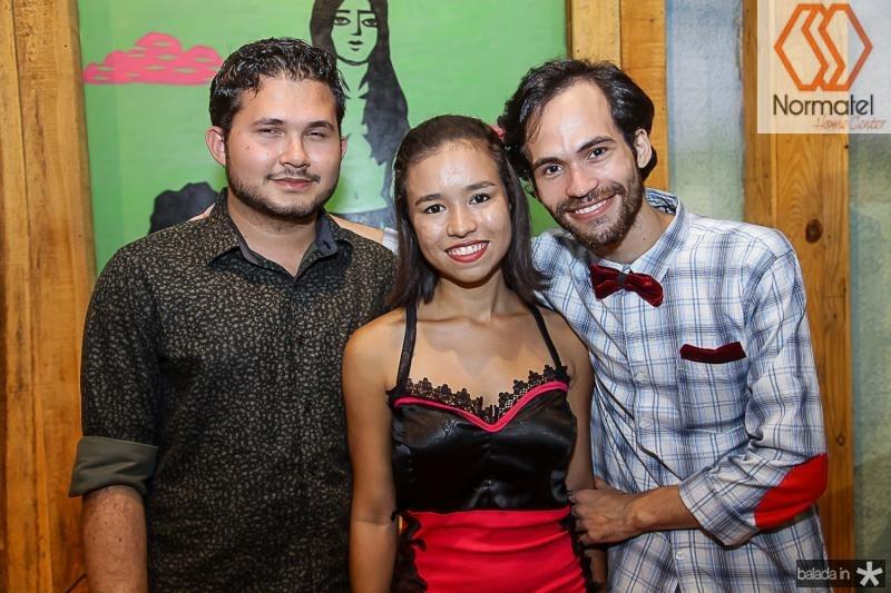 Lucas Paiva, Islane Barbosa e Michel Vaspiano