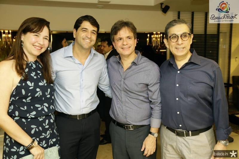 Fernanda e Felipe Carvalho, Andre Juca e Javier Yugar