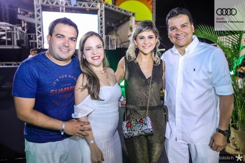 Felipe Pontes, Maria Adeodato, Barbara Melo e Ezio Feitosa