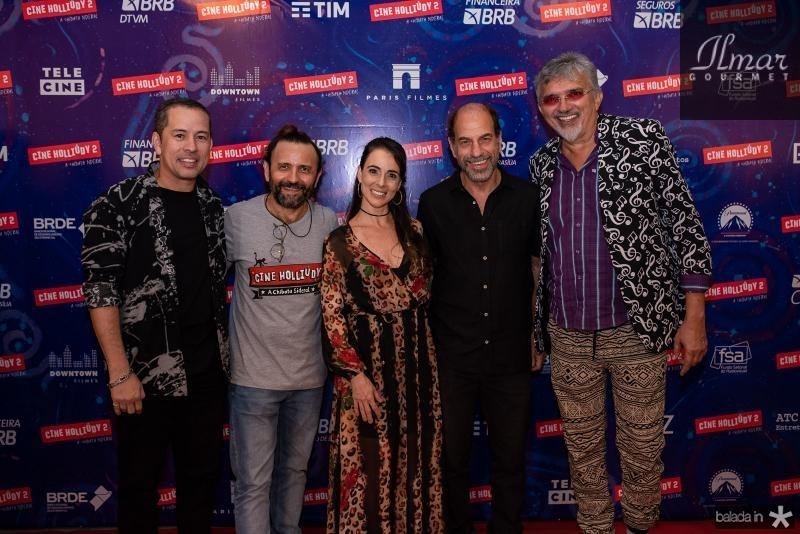 Edimilson Filho, Halder Gomes, Mirian Frelland, Roberto Bomtempo e Falcao