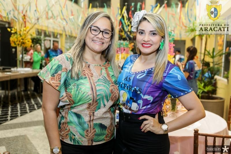 Najla Alencar e Jenifer Glenda