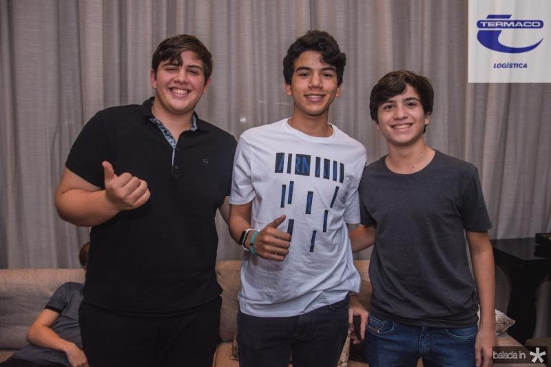 Alexandre Cals, Kalil Oliveira e Gabriel Santana