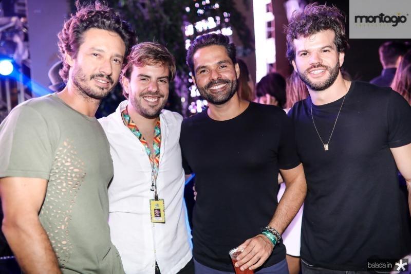 Marcelo Quindere, Claudio Nelson, Savio Brito e Vitor Aragao
