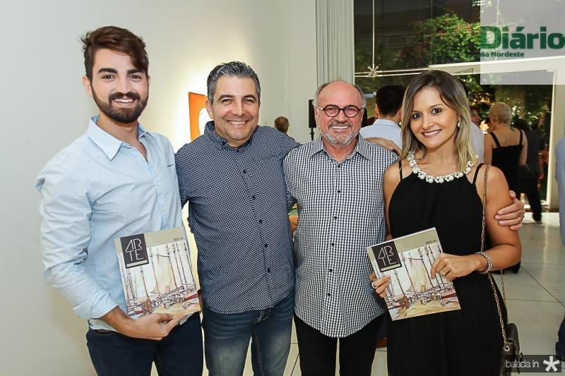 Jose Fontenele, Roberto Dias, Vando Figueiredo e Clarianny Aguiar