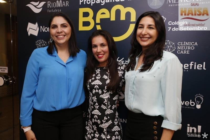 Patricia Paiva, Talita Araujo e Elaine Ditomy
