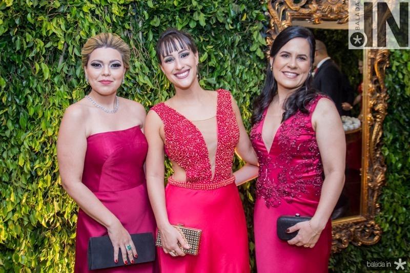 Talita Oliveira, Georgia Pinho e Daniela Valente