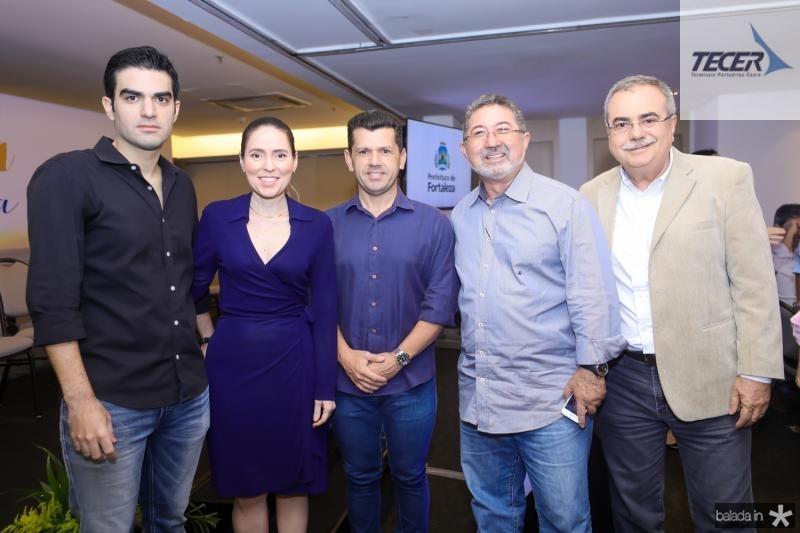 Rodrigo Nogueira, Agueda Muniz, Erick Vasconcelos, Claudio Ricardo e Assis Cavalcante