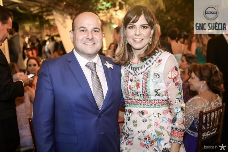 Roberto Claudio e Carol Bezerra