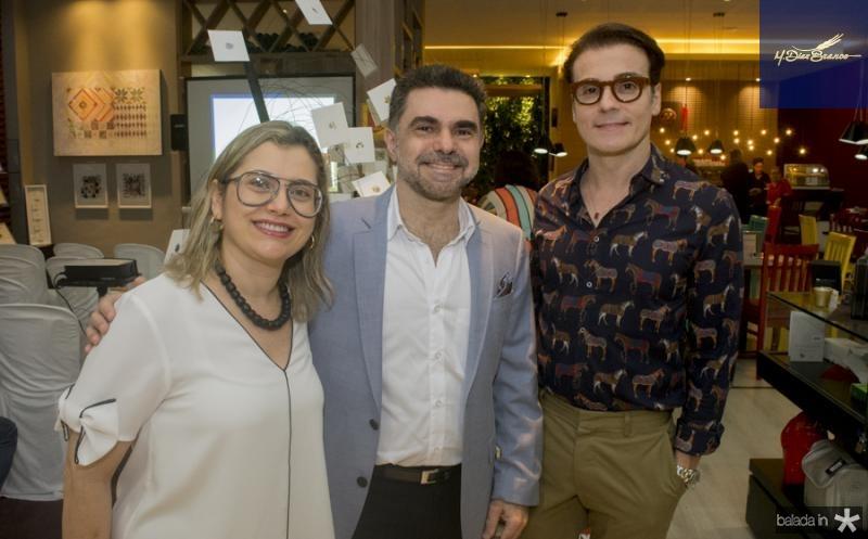 Veridiana Brasileiro, Isaac Furtado e Rodrigo Maia