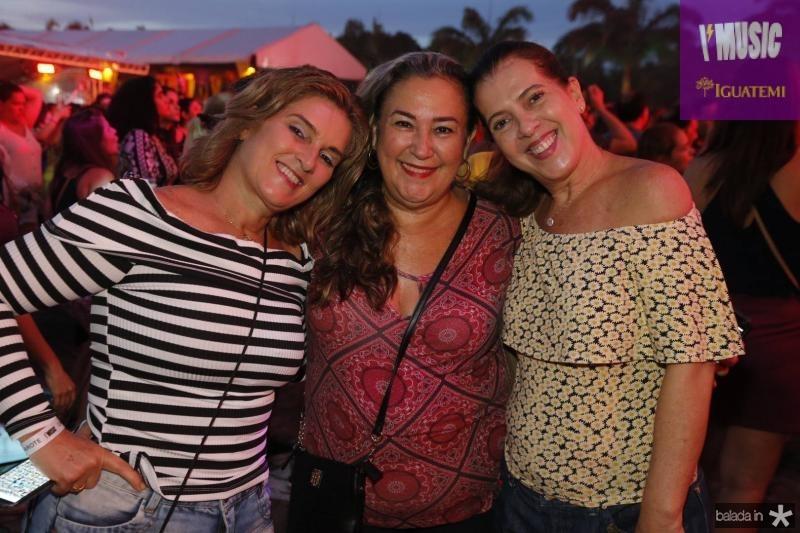 Lolo Moreira, Virginia Canito e Fernanda Aguiar