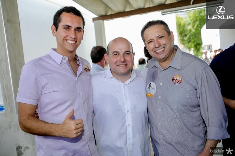 Domingos Neto, Roberto Claudio e Domingos Filho