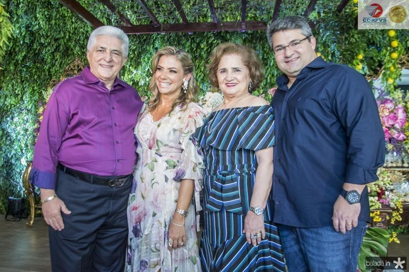 Deusmar, Vanessa, Auricelia e Mario Queiros