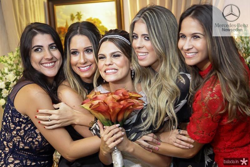 Beatriz Portela, Grasiela Maia, Mariana Pinto, Gabriela Assunçao e Marina Brasil