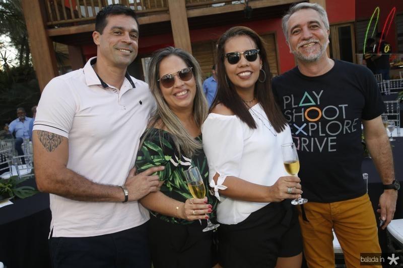 Leandro e Flavia Fimeza, Renata e Mauro Costa