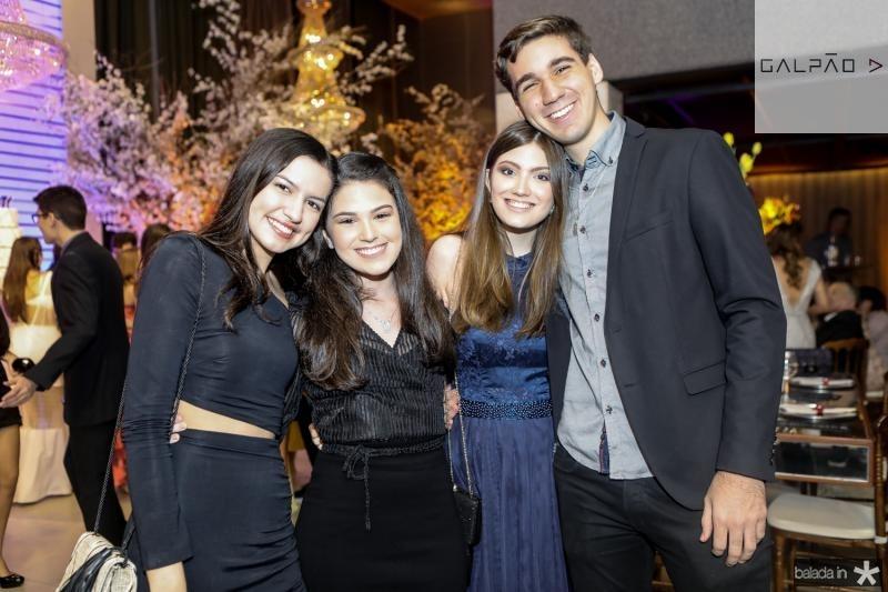 Sophia Santana, Beatrice Vasconcelos, Beatriz Brilhante e Thiago Siqueira