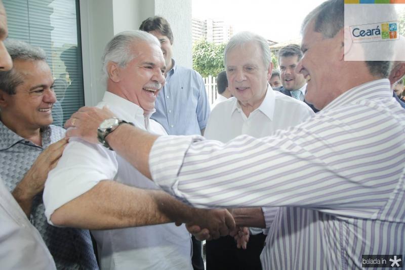 Zenir, Pio Rodrigues, Tasso Jereissati e Guilherme Theophilo