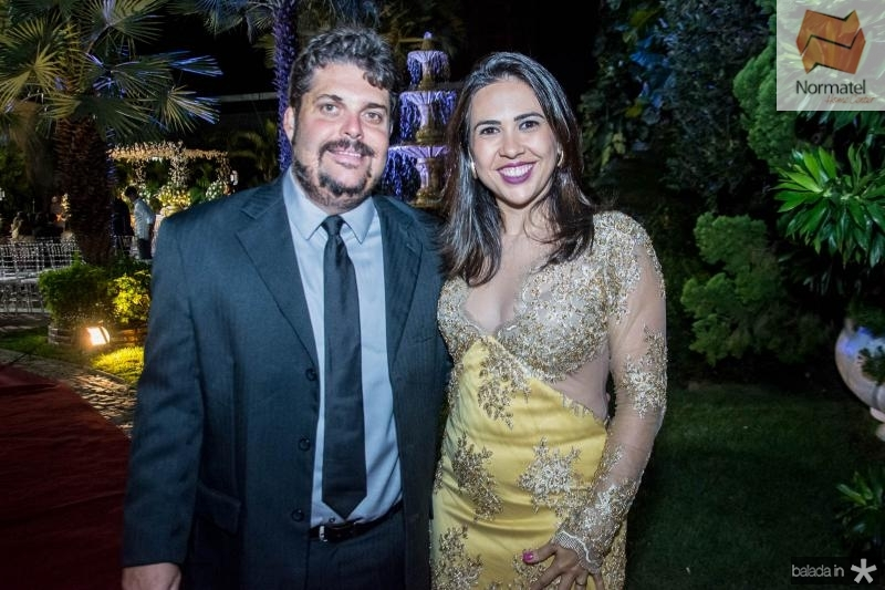 Andre rosado e Alaide Pontes