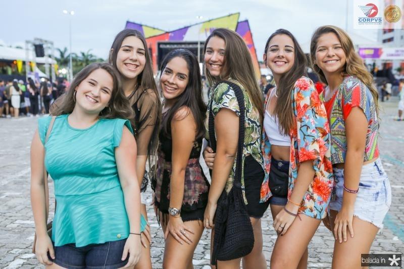 Virna Moura, Clara Vasconcelos, Luiza Farias, Leticia Saboia, Leticia Frota e Sabrina Andrade