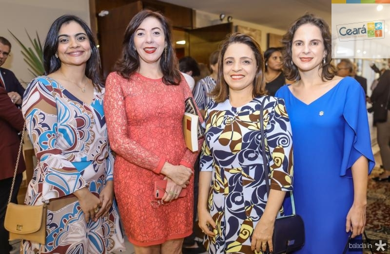 Katerine Mihaliuc, Gina Pompeu, Fabiula Bezerra e Lara Vieira