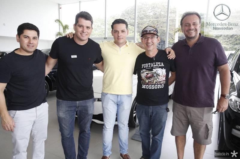 Pompeu Vasconcelos, Newton Basto, Saulo Parente, Gerardo Aguiar e Adriano Nogueira