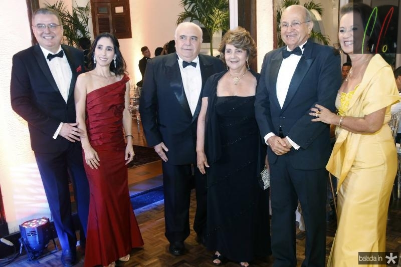 Luiz Fernando e Jovania Mota, Aramicy e Maria de Lurdes Pinto, Edinardo e Dayse de Assis