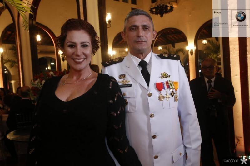 Carla Zambelli e Cmte Aginaldo Oliveira