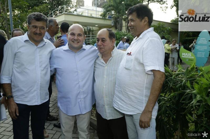 Antonio Henrique, Roberto Claudio, Marcos Teixeira e Carlos Alberto Mesquita