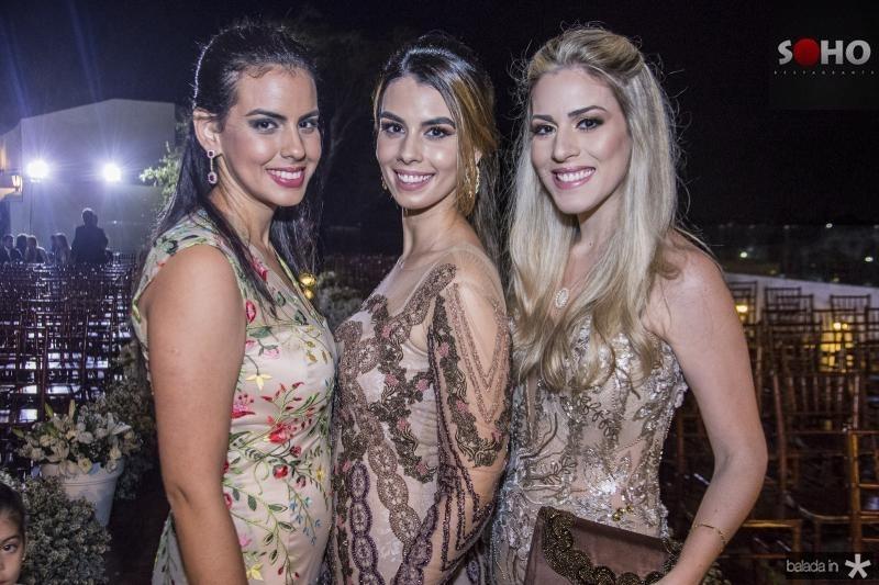 Sara Gomes, Camila Moreira e Sara Castro