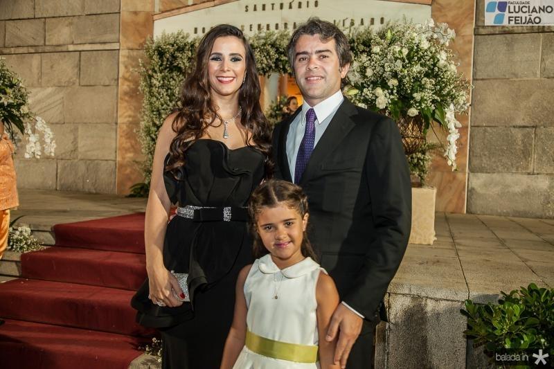 Vivian, Katerine e Ronaldo Barbosa