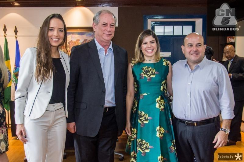 Giselle Bezerra, Ciro Gomes, Carol Bezerra e Roberto Claudio
