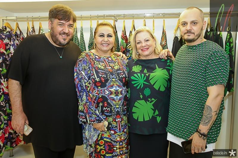 Leonan Dantas, Maria Aguiar, Fani Soares e Giuliano Mazeti